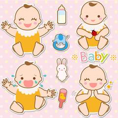 赤ちゃん アイコン イラスト