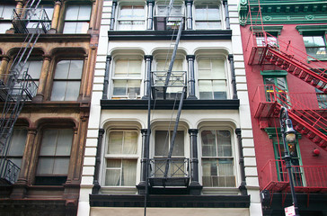 Soho fire escape colors