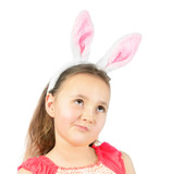 Little girl in Easter bunny ears