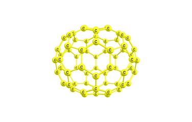 Fullerene molecule illustration isolated on white