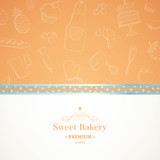 Vector Illustration of a Bakery Background
