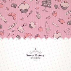 ector Illustration of a Bakery Background