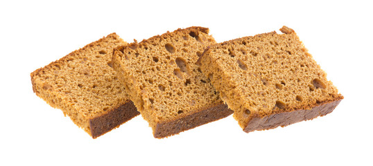 Dutch Honey Cake On White Background