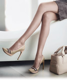 Female legs with shoes and handbag