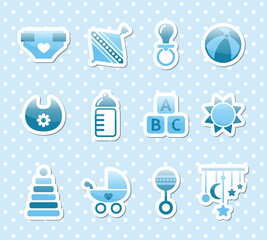 blue baby icons