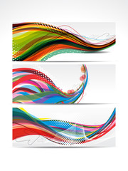 Abstract Colorful Wave Banner