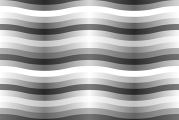 Vector seamless pattern with gray wavy strips.