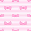 Seamless vector pattern bows pastel pink strips background
