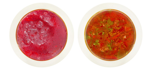 borscht and kharcho