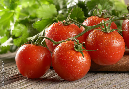 canvas print picture cherry tomatoes