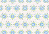 Retro Flower Pattern on Pastel Color