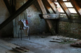 Abandoned attic room