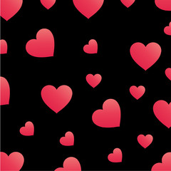 Background with pink hearts for web use