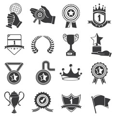 awards icons, trophy icons