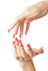 Acrylic nails manicure