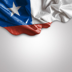 Waving flag of Chile, South America