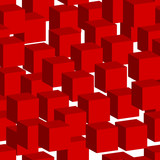 seamless cubes pattern, vector eps 10