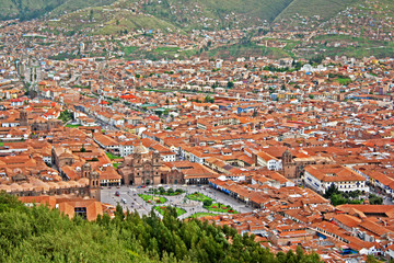 Urban landscape of Cusco, Peru