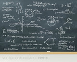 Mathematics on chalkboard. Vector file