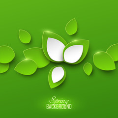 Bright spring abstract background