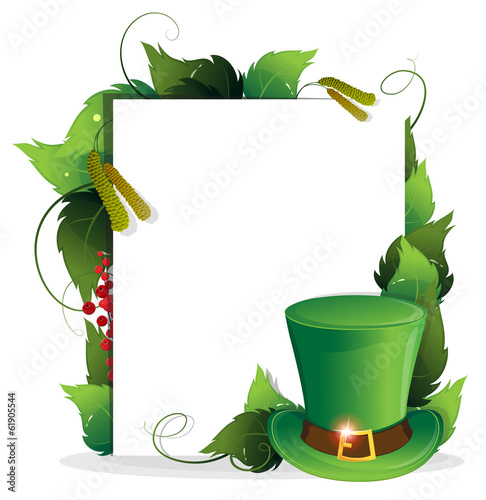 Leprechaun hat with leaves