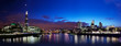 London skyline panorama at night, England the UK. Tower of Londo