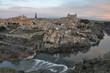 Panoramic view of Toledo at dawn (Spain)