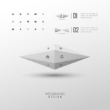 Vector infographic web design elements