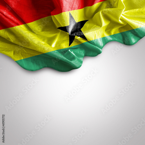 Waving flag of Ghana, Africa