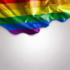 Waving flag of LGBT