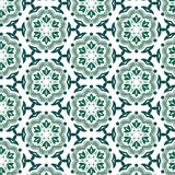 Green and ornamental pattern.