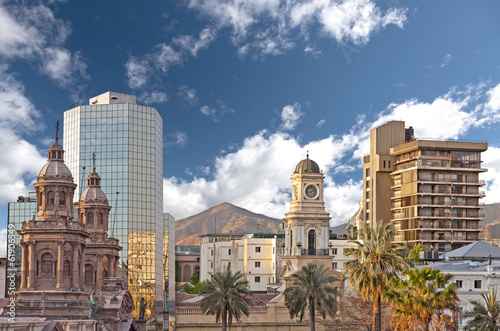 Poster Zuid-Amerika land Santiago de Chile.
