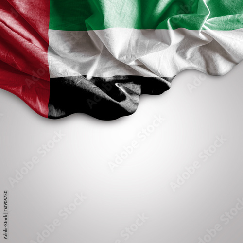 Waving Flag of UAE, United Arab Emirates