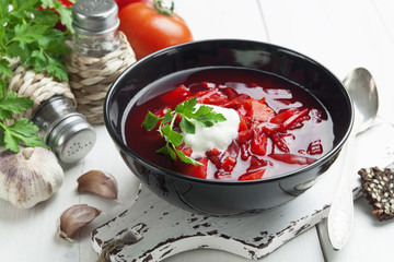 Borsh. Russian traditional dish