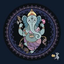 Ganesha Hand getrokken illustratie.