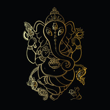 Ganesha Hand gezeichnete Illustration.