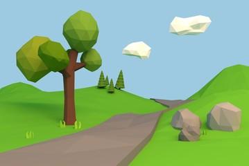 3D Poly Landschaft