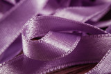 Messy Mess Purple Satin Ribbons
