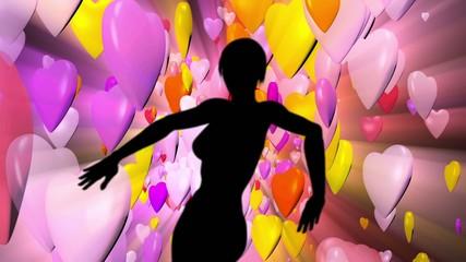 Club dancer silhouette.