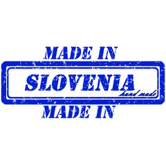 Rubber stamp hand made slovenia made in