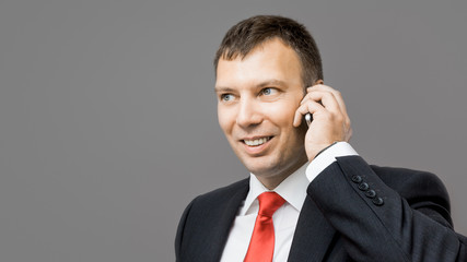 business man mobile phone