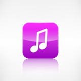 Music note icon. Musical background