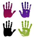 Fototapety Old man four hand prints