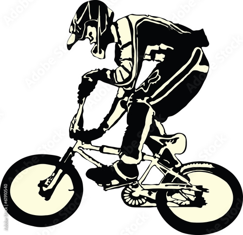 Vector - bike, bicycle, bicyclist - icon