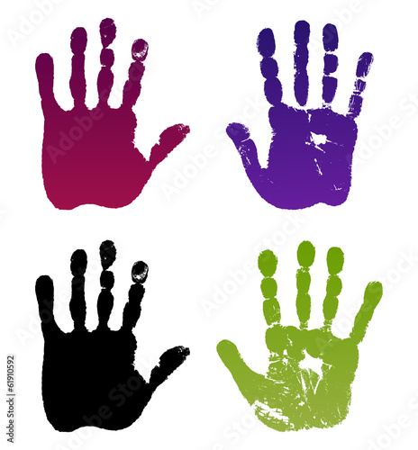 Old man four hand prints