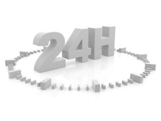 horaires d'ouverture - service 24 h - 3d render ilustration