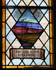 Stained glass window British Chain Home radar WW2