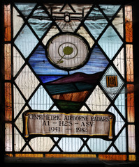 Stained glass window British airborne radar H2S in WW2