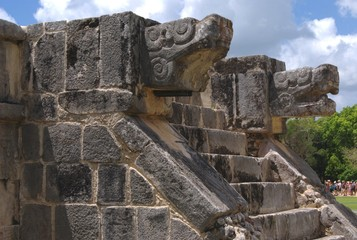 ruins, venus platform, chichen itza, mexico