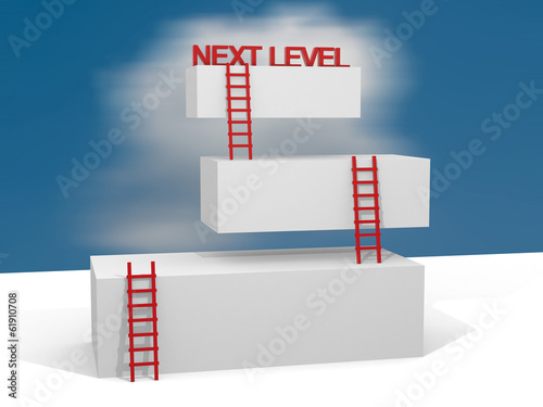 Creative abstract business progress, development, success, next